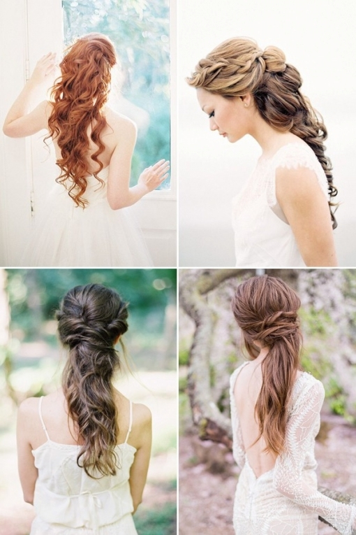100+ Romantic Long Wedding Hairstyles 2019   Curls, Half Up, Updos With Unique Long Hair Styles For Weddings Kc3