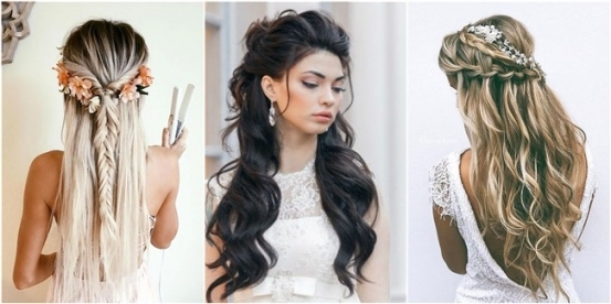18 Creative And Unique Wedding Hairstyles For Long Hair With Regard To Long Hair Styles For Weddings