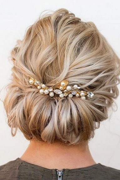20 Wedding Hairstyles For Short Hair | Short Hairstyles 2017 - 2018 with regard to Wedding Updo For Short Hair
