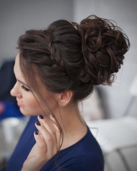 25 Chic Braided Updos For Medium Length Hair   Hairstyles Weekly With Regard To Wedding Updos For Shoulder Length Hair