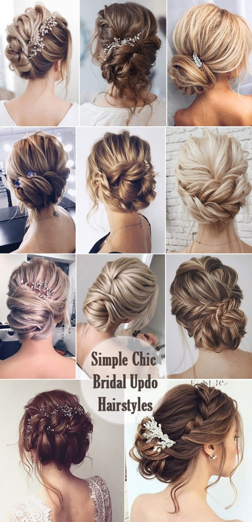 25 Chic Updo Wedding Hairstyles For All Brides Intended For Wedding Hair Up Do