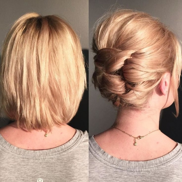25 Cute Short Hairstyle With Braids   Braided Short Haircuts In 2018 Within Wedding Updo For Short Hair