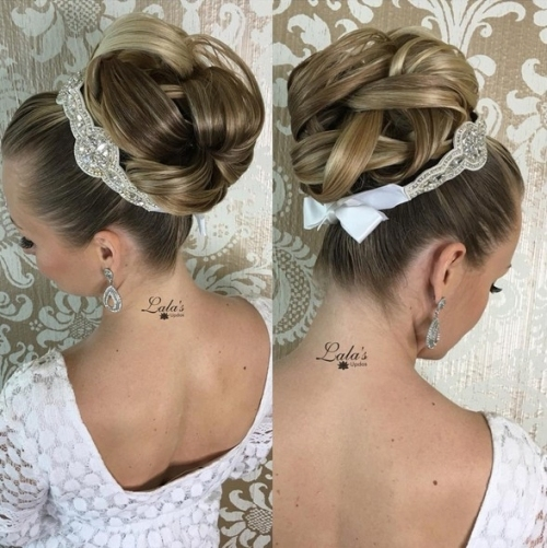 27 Trendy Updos For Medium Length Hair: Updo Hairstyle Ideas For 2019 With Best Of Wedding Updos For Shoulder Length Hair Sf8
