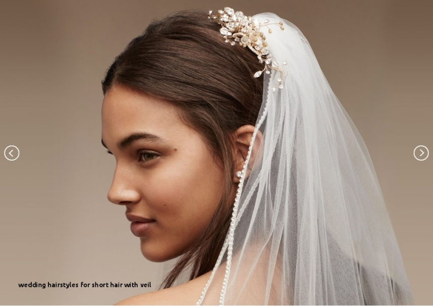 27 Wedding Hairstyles For Short Hair With Veil   Hairstyles Ideas Within Beautiful Wedding Hairstyles For Short Hair With Veil Df9