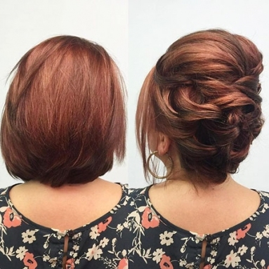 28 New Short Updo Hair | Short Hairstyles & Haircuts 2018 With Regard To Wedding Updo For Short Hair