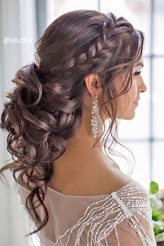 30 Beautiful Wedding Hairstyles – Romantic Bridal Hairstyle Ideas In Unique Long Hair Styles For Weddings Kc3
