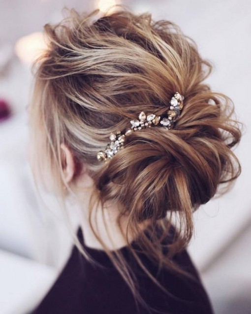 30 Chic Wedding Hair Updos For Elegant Brides | Deer Pearl Flowers with Wedding Hair Up Do