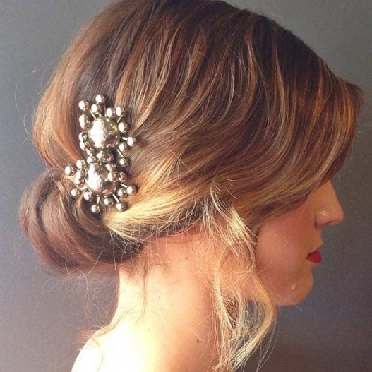 31 Wedding Hairstyles For Short To Mid Length Hair | Stayglam pertaining to Fresh Wedding Updo For Short Hair dt3