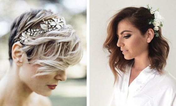 31 Wedding Hairstyles For Short To Mid Length Hair | Stayglam pertaining to Wedding Updos For Shoulder Length Hair