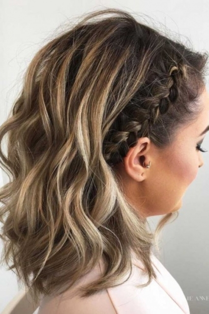 40 Wedding Hairstyles For Short To Mid Length Hair – Herinterest/ Intended For Beautiful Wedding Hair For Medium Length Fg8