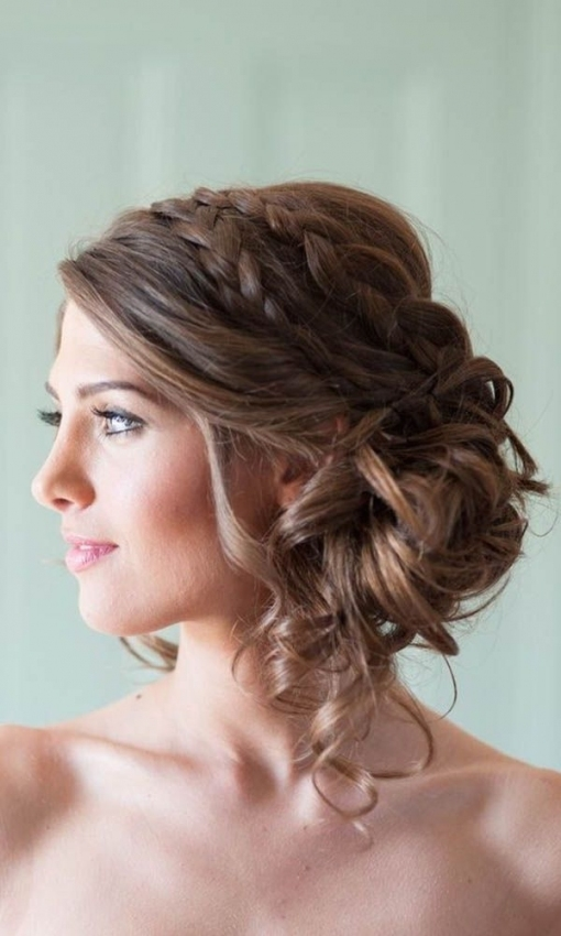 42 Wedding Hairstyles   Romantic Bridal Updos | Hair! | Pinterest Inside Lovely Wedding Hairstyle For Medium Hair Sf8