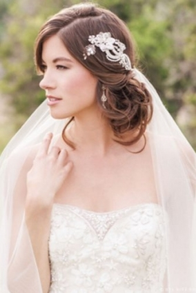 42 Wedding Hairstyles With Veil | Page 5 Of 8 | Wedding Forward Inside Beautiful Wedding Hairstyles For Short Hair With Veil Df9