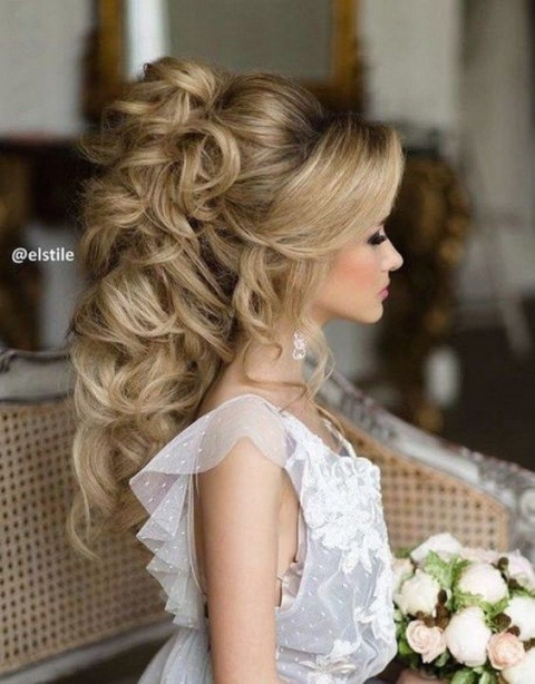 45 Most Romantic Wedding Hairstyles For Long Hair #2701141   Weddbook Regarding Unique Long Hair Styles For Weddings Kc3