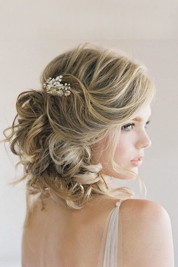 45 Short Wedding Hairstyle Ideas So Good You'd Want To Cut Hair for Fresh Wedding Updo For Short Hair dt3