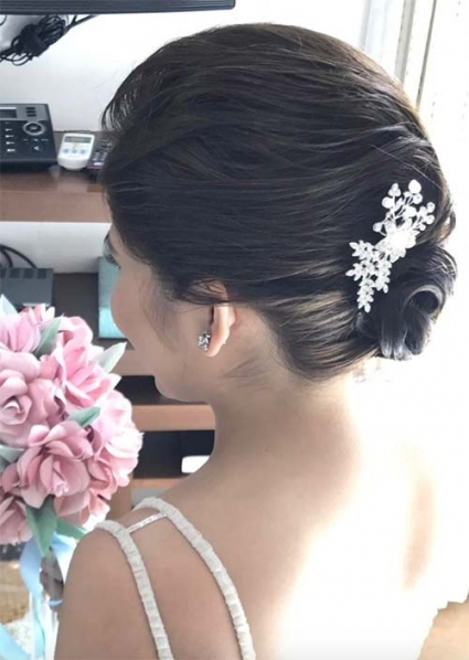 63 Creative Updos For Short Hair Perfect For Any Occasion   Glowsly With Regard To Fresh Wedding Updo For Short Hair Dt3