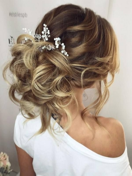 75 Chic Wedding Hair Updos For Elegant Brides | Wedding Hairstyles For Inspirational Wedding Hair Up Do Sf8
