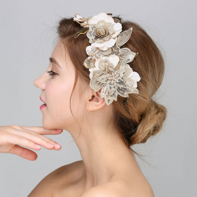 Baroque Hair Jewelry Wedding Party Leaves Crystal Pearl Headbands In Luxury Hair Jewelry Wedding Klp8