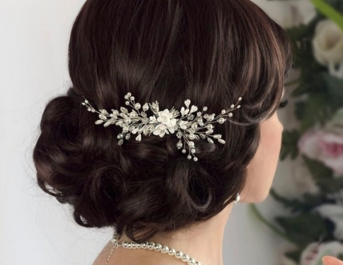 Luxury Pearl Hair Comb Wedding kc3