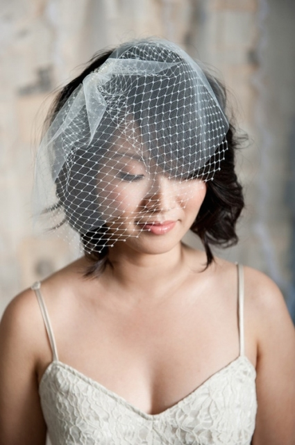 Bridal Hairstyles For Short Hair With Veil   Di Candia Fashion With Regard To Wedding Hairstyles For Short Hair With Veil