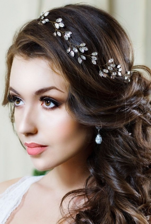 Bridal Headband Crystal Headpiece Crystal Tiara Wedding Hair For Luxury Hair Jewelry Wedding Klp8