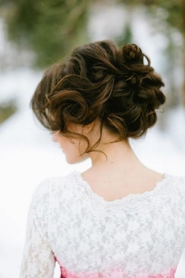 Brown Curly Hairstyle Ideas For Your Wedding   Hair World Magazine With Regard To Wedding Hair Up Do
