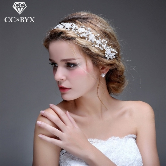 Cc Jewelry Wedding Headband Crystal Bridal Crown For Women Wedding regarding Hair Jewelry Wedding