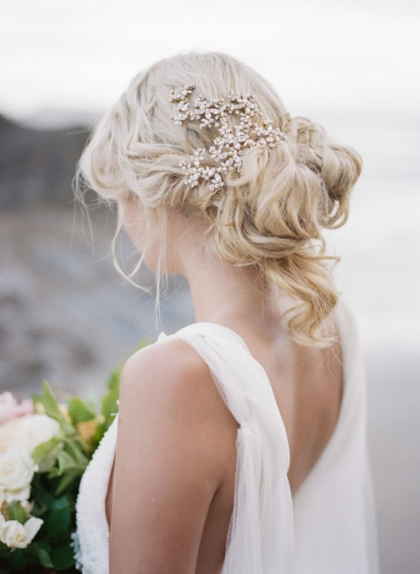 Drop Dead Gorgeous Curly Wedding Updos   Mon Cheri Bridals Within Elegant Updo Wedding Hair Sf8