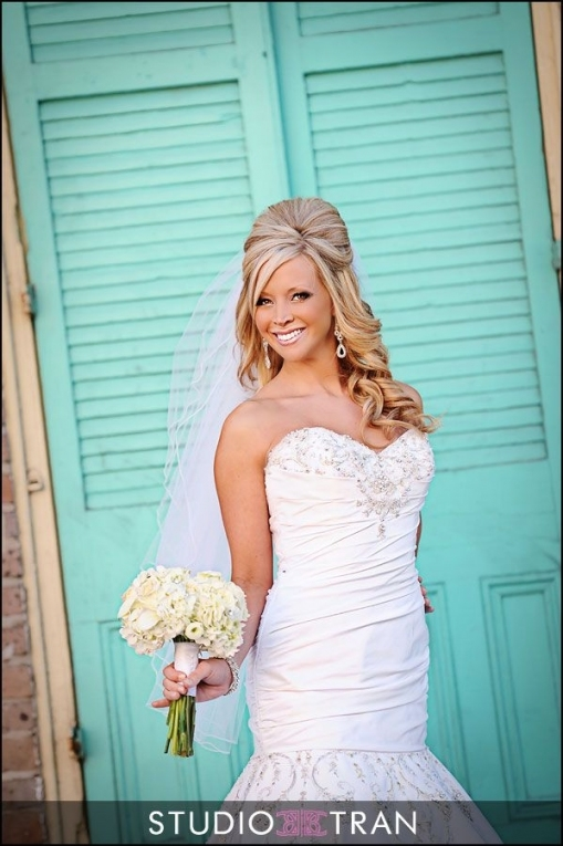 Beautiful Wedding Hairstyles For Long Hair Half Up With Veil kc3