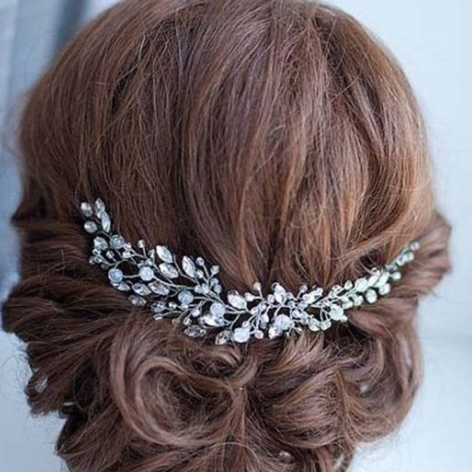 Handmade Crystal Flower Rhinestone Bridal Hair Jewelry | Amare Wedding within Luxury Hair Jewelry Wedding klp8