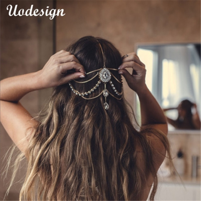 Hot Sale Full Crystal Diamante Head Band Hair Jewelry Wedding Bridal Intended For Luxury Hair Jewelry Wedding Klp8