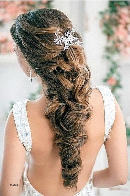Unique Wedding Hairstyles For Long Curly Hair Half Up Half Down kls7