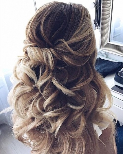 Partial Updo Wedding Hairstyles 2018 For Medium Hair #2806014 - Weddbook throughout Wedding Hairstyle For Medium Hair