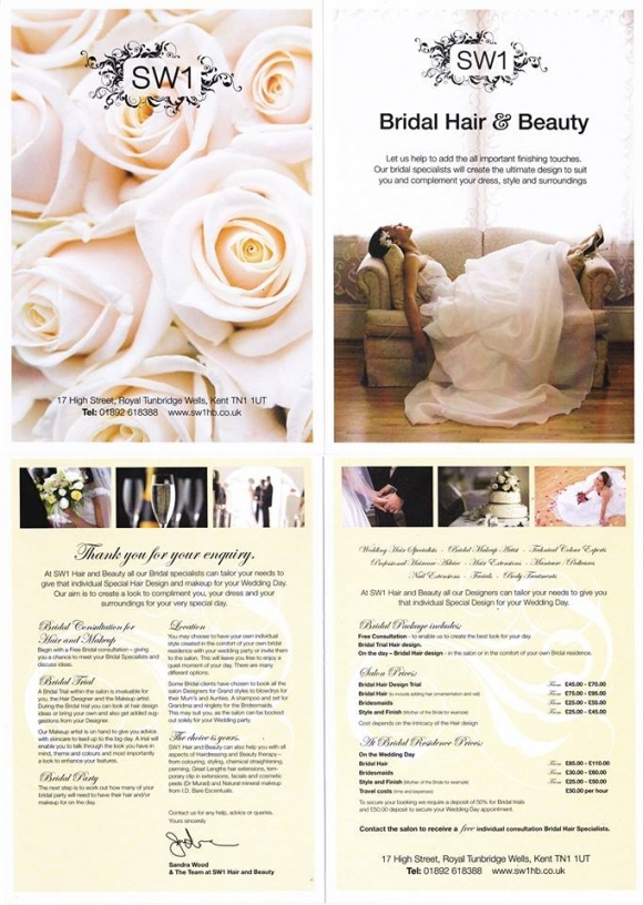 Sw1 Hair, Beauty & Bridal Salon – 17 High Street, Tunbridge Wells With Regard To Luxury Hair Salon Wedding Packages Ty4