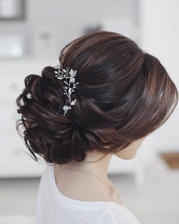 This Beautiful Bridal Updo Hairstyle Perfect For Any Wedding Venue Pertaining To Elegant Updo Wedding Hair Sf8