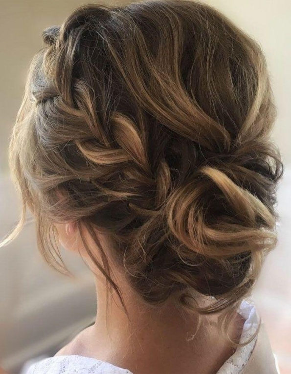 This Crown Braid With Updo Wedding Hairstyle Perfect For Boho Bride Intended For Wedding Hair Up Do
