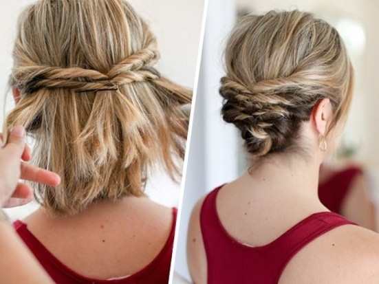 This Quick Messy Updo For Short Hair Is So Cool | Haira Dids Pertaining To Fresh Wedding Updo For Short Hair Dt3