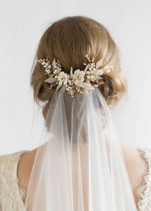 Top 8 Wedding Hairstyles For Bridal Veils for Beautiful Wedding Hairstyles For Short Hair With Veil df9