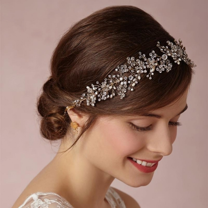 Trend New Hair Jewelry Wedding Bridal Prom Women Crystal Rhinestone Throughout Luxury Hair Jewelry Wedding Klp8