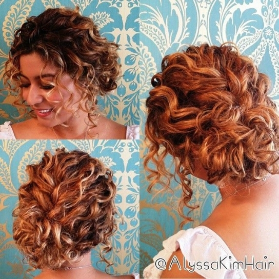 New Curly Hair Wedding Updo dt3
