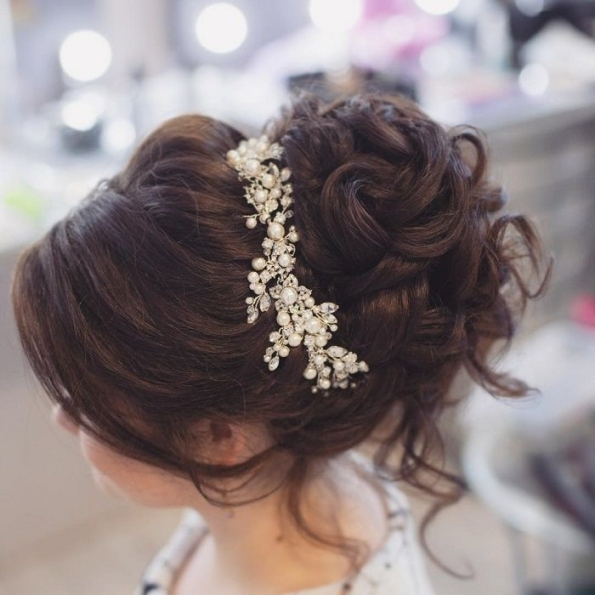 Wedding Hair Paignton | Leigh's Bridal Hair Up Do Service Within Inspirational Wedding Hair Up Do Sf8