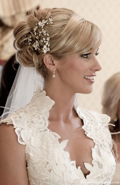 Beautiful Wedding Hairstyles For Short Hair With Veil df9
