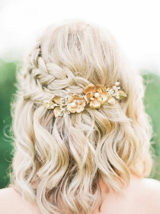 Wedding Hairstyles For Medium Length Hair Half Up   Leymatson Inside Beautiful Wedding Hair For Medium Length Fg8