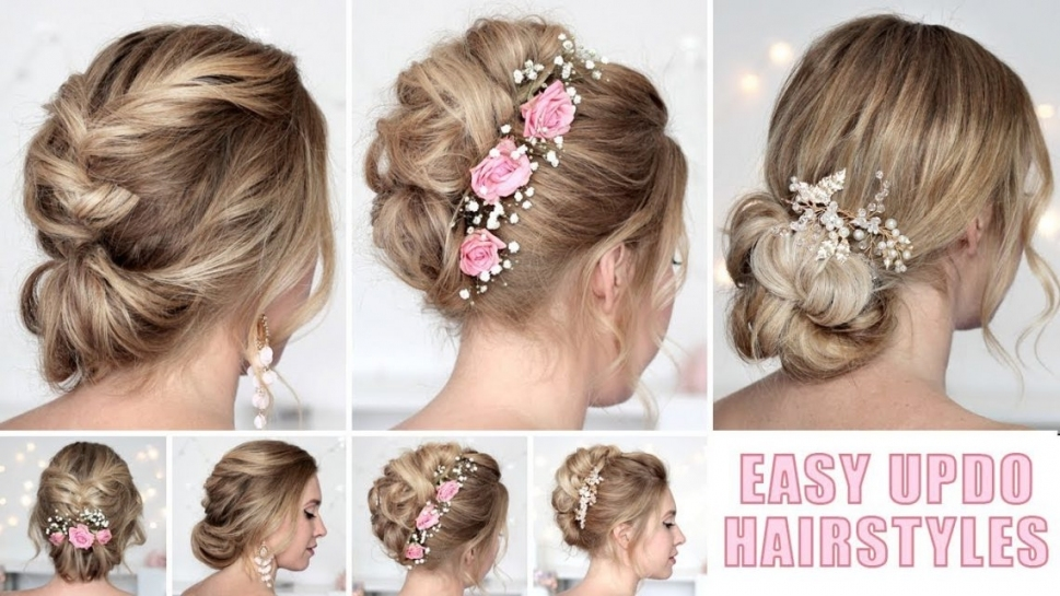 Wedding Hairstyles For Medium/long Hair Tutorial ❤ Quick And Easy Intended For Lovely Wedding Hairstyle For Medium Hair Sf8