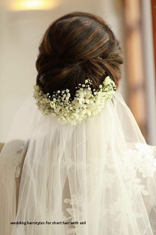 Wedding Hairstyles For Short Hair With Veil Love The Veil And Flower with Beautiful Wedding Hairstyles For Short Hair With Veil df9