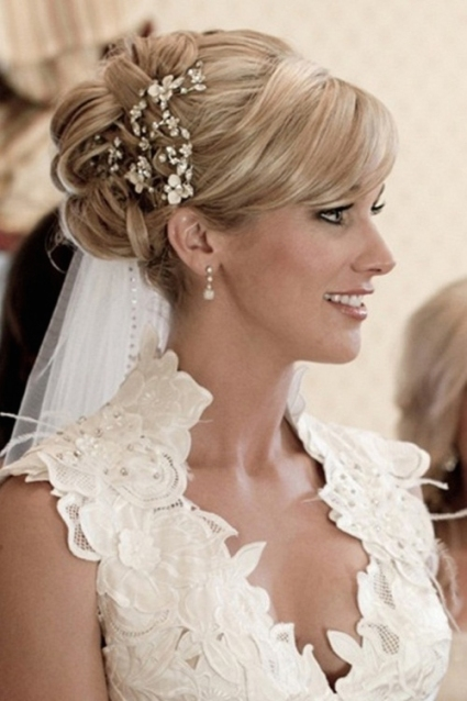 Wedding Hairstyles Medium Hair Decorate The Wedding Ceremony – Home Within Wedding Hair For Medium Length