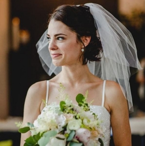Wedding Hairstyles With A Veil: 12 Fairytale Perfect Looks To Within Wedding Hairstyles For Short Hair With Veil