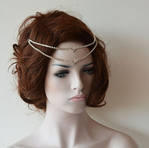 Wedding Headband, Wedding Head Chain, Hair Jewelry, Wedding In Hair Jewelry Wedding