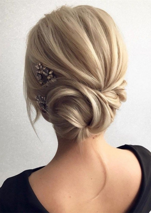12 So Pretty Updo Wedding Hairstyles From Tonyapushkareva | Chic Pertaining To Best Of Wedding Hairstyles For Medium Hair Ty4