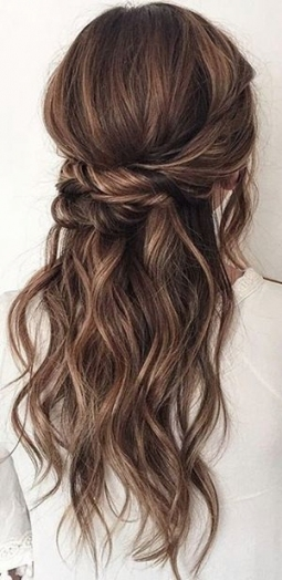 20 Amazing Half Up Half Down Wedding Hairstyle Ideas | Wedding With New Hair Ideas For A Wedding Kls7