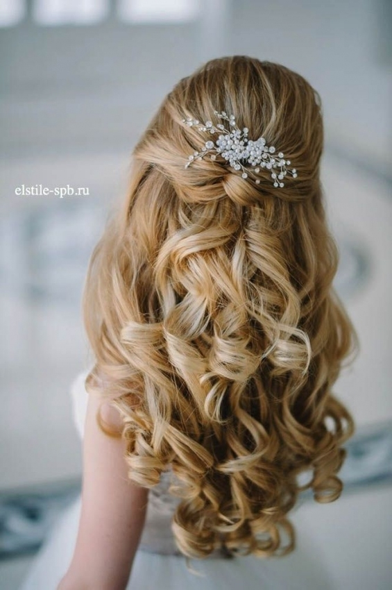 20 Awesome Half Up Half Down Wedding Hairstyle Ideas Inside New Hair Ideas For A Wedding Kls7